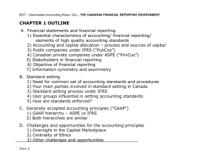Ch 01 - Lect Notes, Financial Reporting Envir't 3 - 12e (Apr 25 19)