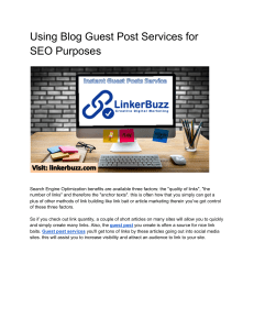 Using Blog Guest Post Services for SEO Purposes