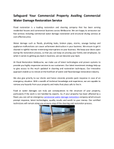 Avail the Commercial Water Damage Restoration Service
