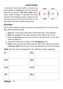 Drawing dot and cross covalent bonding diagrams
