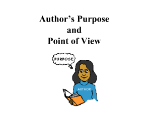 Authors Purpose PowerPoint for Notes on 100362017