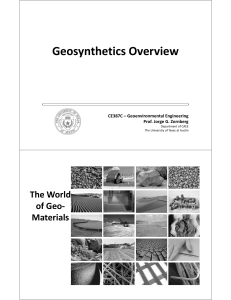 EG - ML7.1 - Geosynthetic Types and Functions