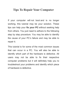 Tips To Repair Your Computer