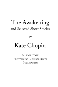 The Awakening by Kate Chopin FULL TEXT