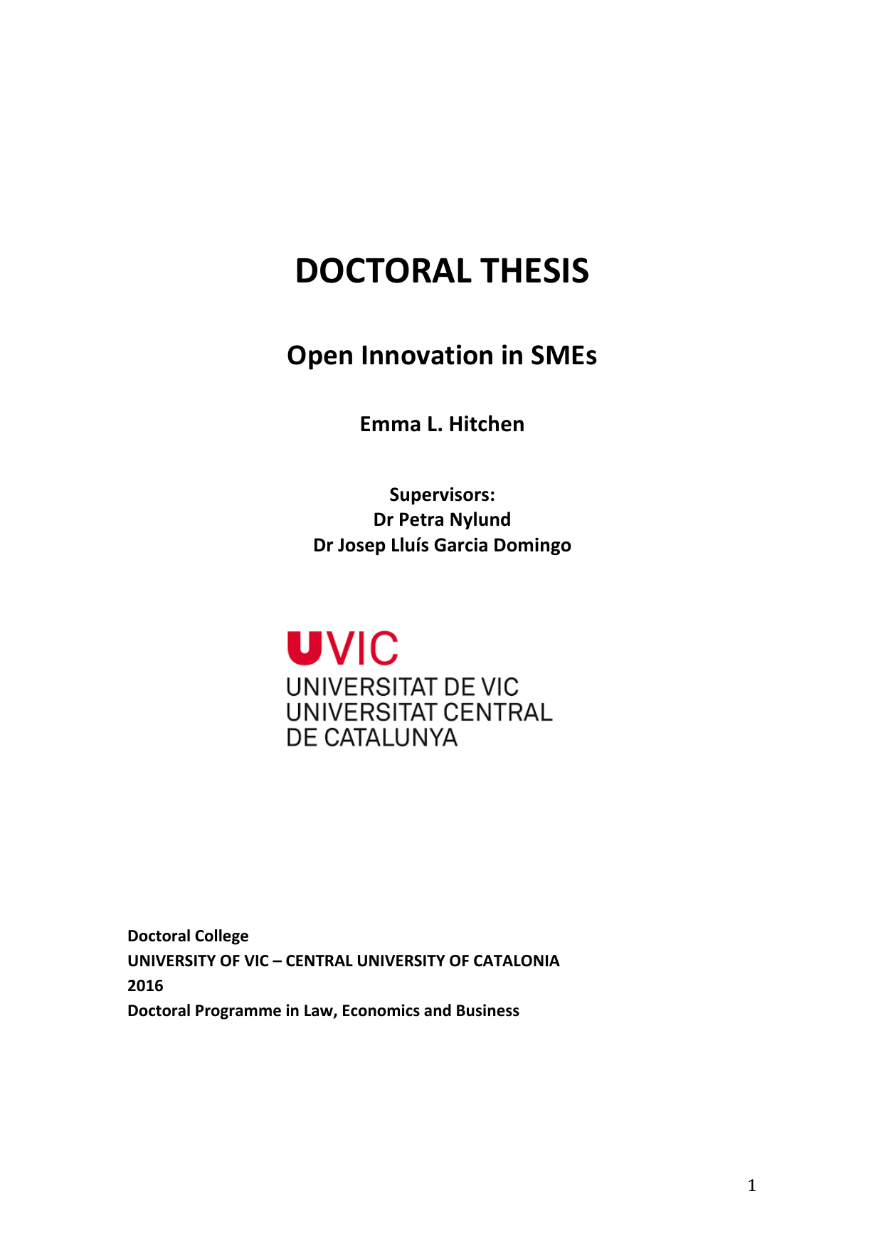 Doctoral Thesis On Innovation , Order custom essay