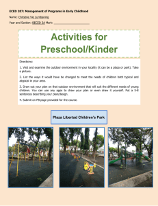 Required Task  10 preschool kindergarten