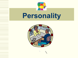 Unit 1. Personality 1.1. Personality types