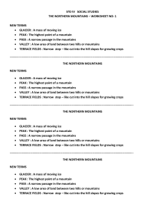 365447898-Class-IV-Social-StudiesThe-Northern-Mountains-Worksheet-no-1-pdf