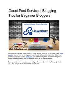 Guest Post Services| Blogging Tips for Beginner Bloggers