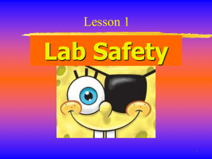 Lesson 2 Lab Safety