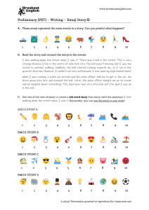 Preliminary-PET-Writing-Emoji-Story