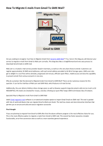 How To Migrate E-mails From Gmail To GMX Mail