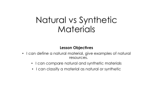 Natural and Synthetic Material