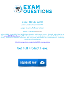 Juniper JN0-635 Exam Dumps [2020] Authentic Questions PDF