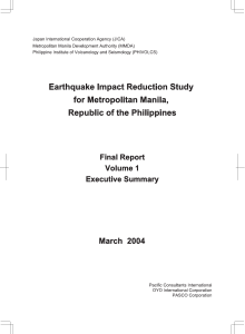 Earthquake Impact Reduction Study Volume 1