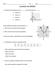 Quadratic Test Review
