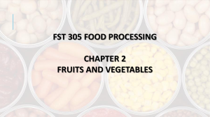 CHAPTER 2.2 CANNING OF FRUITS AND VEGETABLES