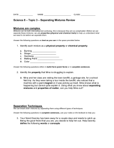 Topic 3 Review Worksheet