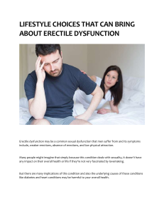 LIFESTYLE CHOICES THAT CAN BRING ABOUT ERECTILE DYSFUNCTION