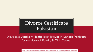 Get Divorce Certificate Pakistan By Nadra Legally With Complete Guide