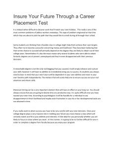 Insure Your Future Through a Career Placement Test
