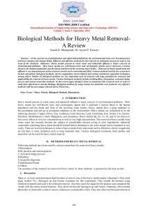 IJESIT201305 40.Biological Methods for Heavy MetalRemoval-A Review