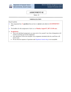 CSC 211 DBMS Assignment 02 pdf