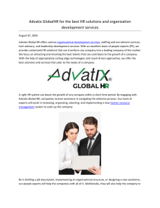 Advatix GlobalHR for the best HR solutions and organization development services