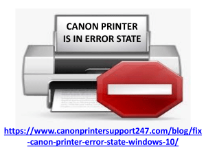CANON PRINTER ERROR STATE