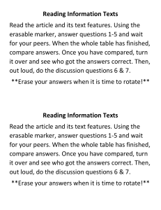 Reading Information Texts