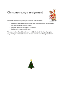 Christmas song assignment 2020