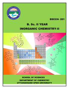 Inorganic chemistry-bachelor of science