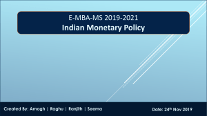 Indian Monetary Policy Final