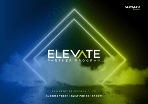 Nutanix Elevate Reseller Partner Program Guide