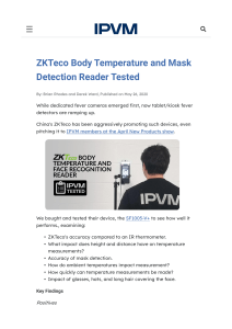 ZKTECO Body Temperature Terminal