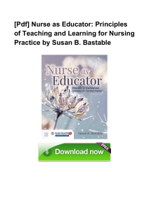Pdf Nurse as Educator Principles of Teac