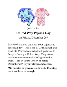 United Way PJ Day Poster