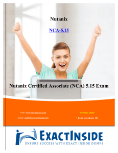 Exact Nutanix NCA-5.15 Questions And Answers