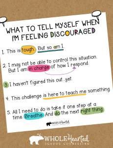 What to tell myself when discouraged