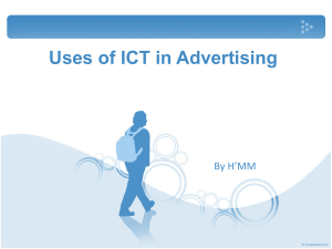 2.3 use of ict in advertising