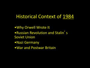 Historical Context of 1984 by George Orwell