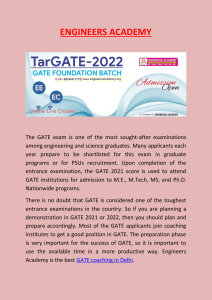 GATE coaching in delhi - Engineers Academy