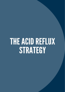 The Acid Reflux Strategy PDF Book Scott Davis