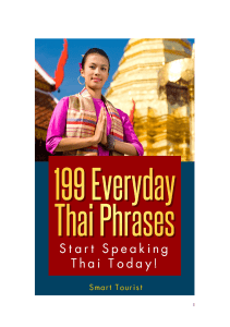 Learning Thai Language '199 Everyday Thai Phrases'