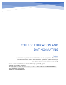 College Education and Dating Mating by Benjamin Brasford
