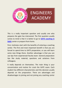 New Batch for GATE coaching in Delhi