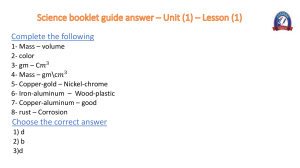 Science Booklet guide answer (Unit1)(Lesson1) (leaders language school)