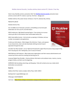 McAfee Internet Security mcafee antivirus latest version PC 1 Device 1 Year Key-converted