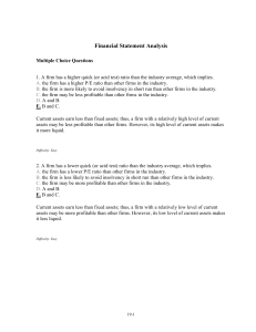 Financial Statement Analysis Multiple Ch