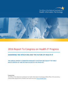 2016 report to congress on healthit progress